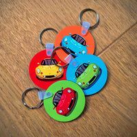 "Lotus Elise S1 ""favourite colours"" keyrings"