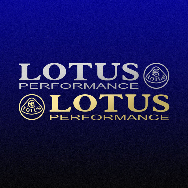 LOTUS PERFORMANCE with Lotus badge decal