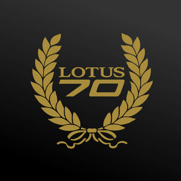 """LOTUS 70"" heritage wreath decal"