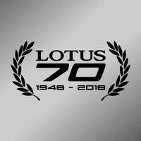 LOTUS 70 celebration decal - wreath design