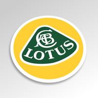 LOTUS badge sticker, full colour (90mm diameter)