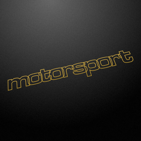"""motorsport"" retro 80's style decal"
