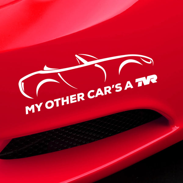 """My other car's a TVR"" - Griffith - exclusive decal"