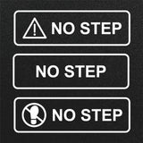 NO STEP warning decal