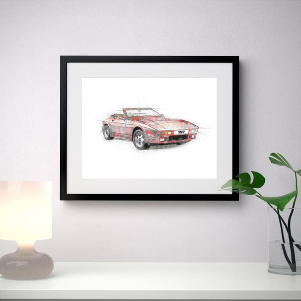 "TVR ""Wedge"" (400SE) - Red - A3/A4 Print ""Sketch"""
