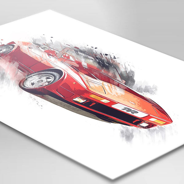 "TVR ""Wedge"" (400SE) - Red - A3/A4 Print ""Splatter"""