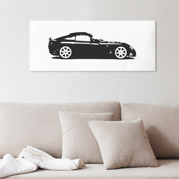 Sagaris silhouette canvas art