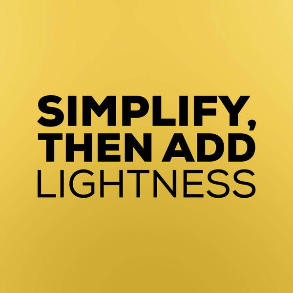 """Simplify, then add lightness"" - Colin Chapman quote vinyl decal"