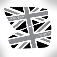 Elise Cup 250 Union Jack Spoiler Decals - small version
