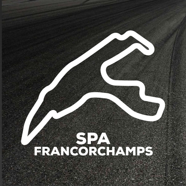 Spa Francorchamps Circuit Outline decal