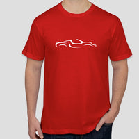 Classic Lotus Elise S1 silhouette line-drawing t-shirt