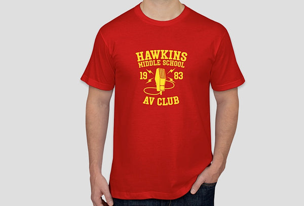 """Hawkins Middle School AV Club"" t-shirt (inspired by Stranger Things)"