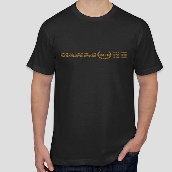 World Champion Car Constructor 1978 - vintage LOTUS t-shirt