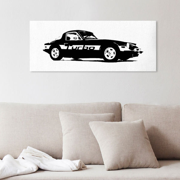 TVR 'S' silhouette canvas art