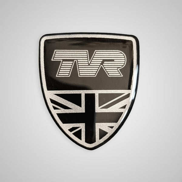 "TVR ""shield"" 3D domed sticker / badge"