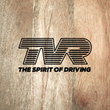 "TVR - ""The Spirit of Driving"" logo with modern-style slogan"