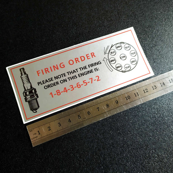 V8 Firing Order sticker