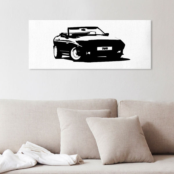 Wedge silhouette canvas art