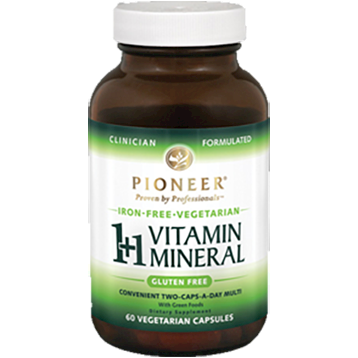 1+1 Vitamin Mineral Iron-Free 60 vcaps