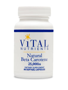 Natural Beta Carotene 25000 IU 90 caps Vital Nutrients