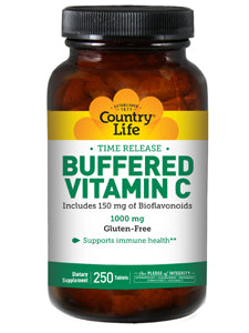 Buffered Vitamin C 1000 mg 250 tabs Country Life