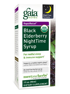 Black Elderberry Nighttime Syrup 3 oz