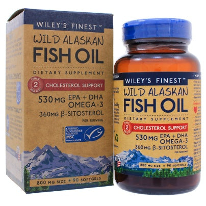 Cholesterol Support 90c Wileys Finest Fish Oils