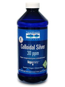 Colloidal Silver 30 PPM 16 fl oz Trace Minerals Research