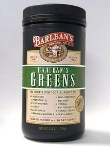 Greens Powder 9.3 oz Barlean's Organic Oils