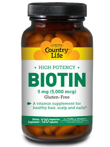 High Potency Biotin 5 mg 120 vegcaps