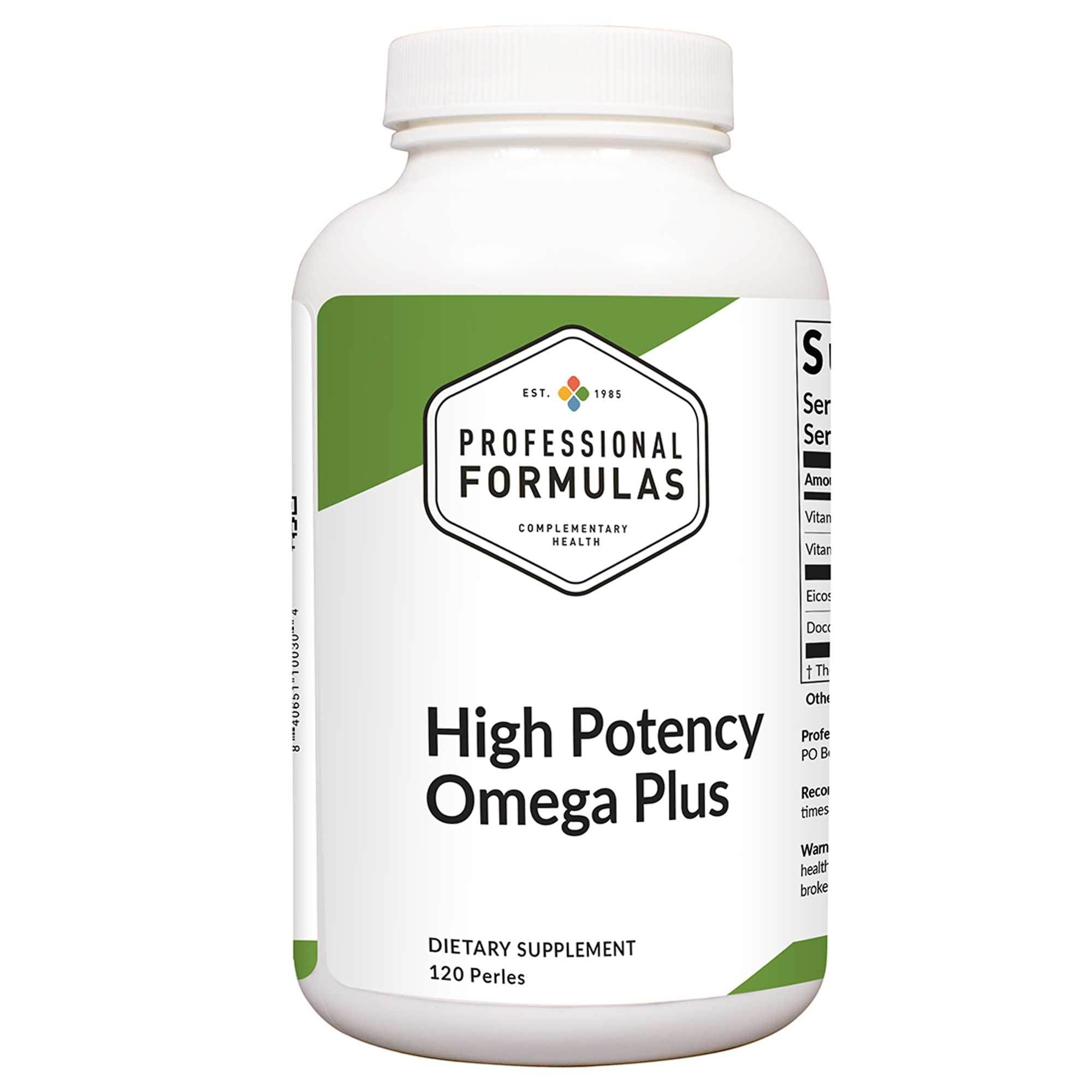 High Potency/Omega Plus 120 perles Professional Formulas