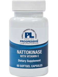 Nattokinase with Vitamin E 60 gels Progressive Labs