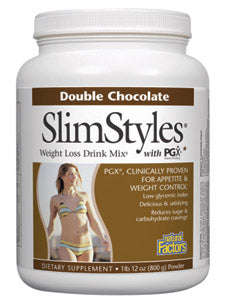 SlimStyles Double Chocolate pwd 28 oz Natural Factors
