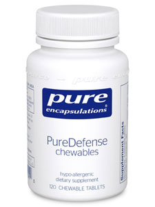 PureDefense chewables 120 tabs Pure Encapsulations