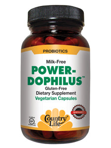 Power-Dophilus Milk Free 200 vegcaps Country Life
