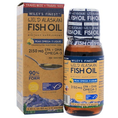 Peak Omega-3 Liquid 8oz Wileys Finest Fish Oils