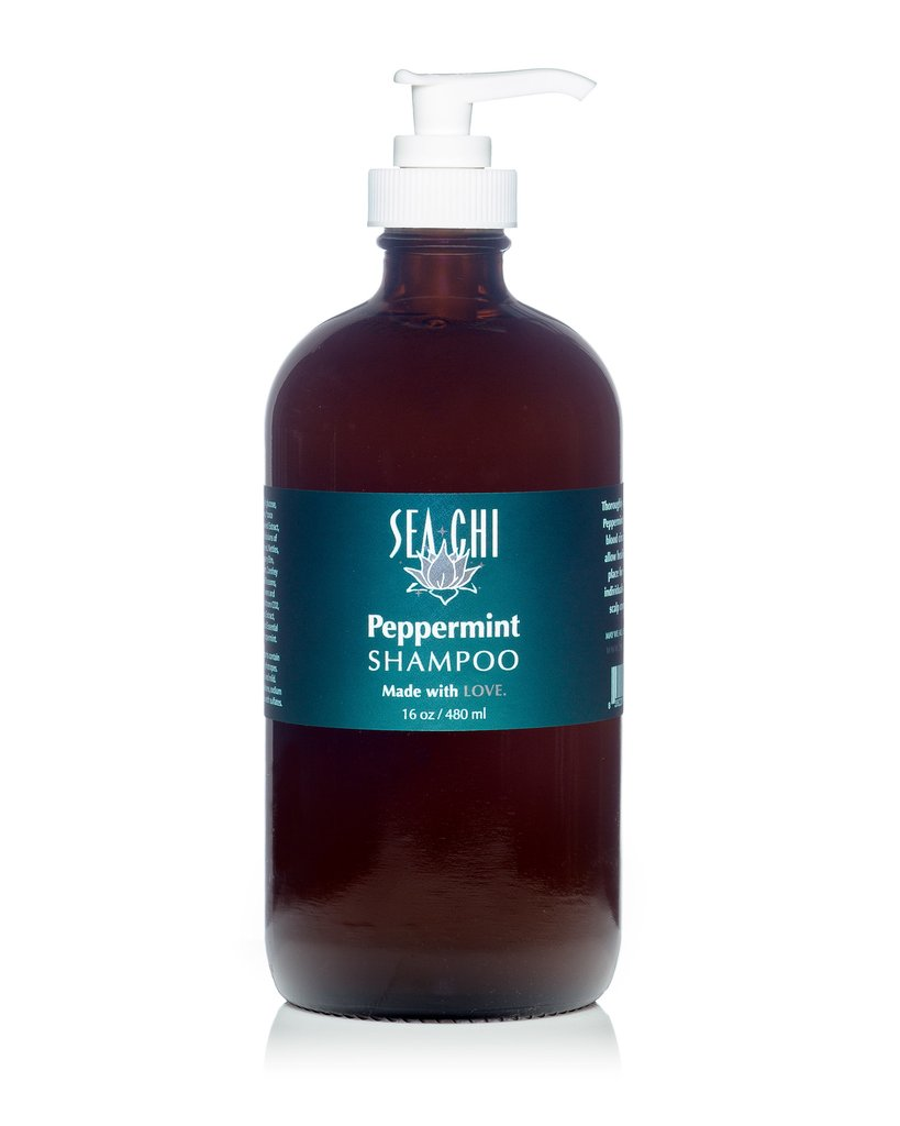 Peppermint Shampoo 480ml / 16oz Sea Chi Organics
