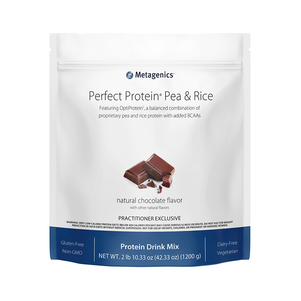 Metagenics Perfect Protein Pea & Rice Chocolate Powder - 30 servings