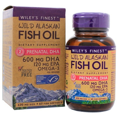 Prenatal DHA 60c Wileys Finest Fish Oils