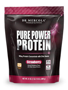 Pure Power Protein Strawberry 31 oz Dr Mercola