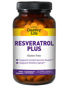 Resveratrol Plus 120 vegcaps Country Life