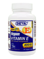 Vitamin E 400 IU-Mixed Tocoph. 90 vcaps Deva Nutrition