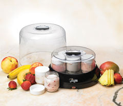 Yolife Yogurt Maker w/ seven 6 oz glass jars Tribest