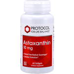 Astaxanthin 10mg 60 gels Protocol for Life Balance