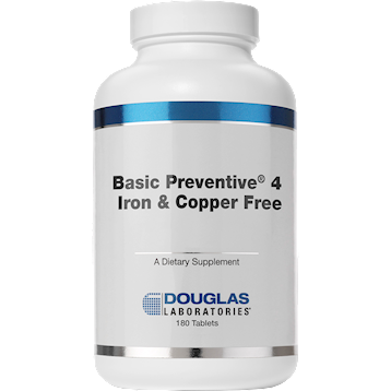 Douglas Laboratories Basic Preventive 4 (FE&CU free) 180 tabs