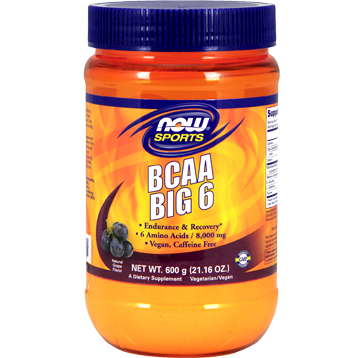BCAA Big 6 Grape 600 g Now