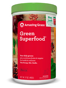 Berry GreenSuperFood Powder 60 serv Amazing Grass