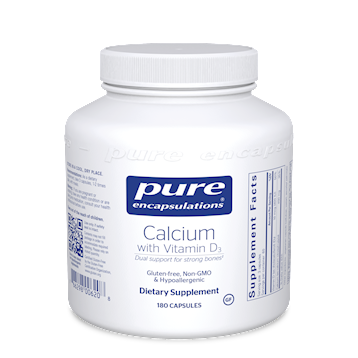 Calcium with Vitamin D3 180 vcaps Pure Encapsulations
