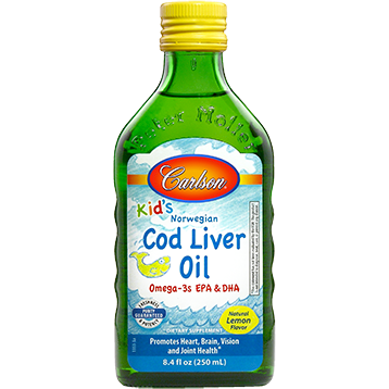 Carlson Kids Cod Liver Oil Lemon 250 ml