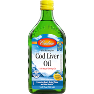 Cod Liver Oil Lemon 500 ml Carlson Labs